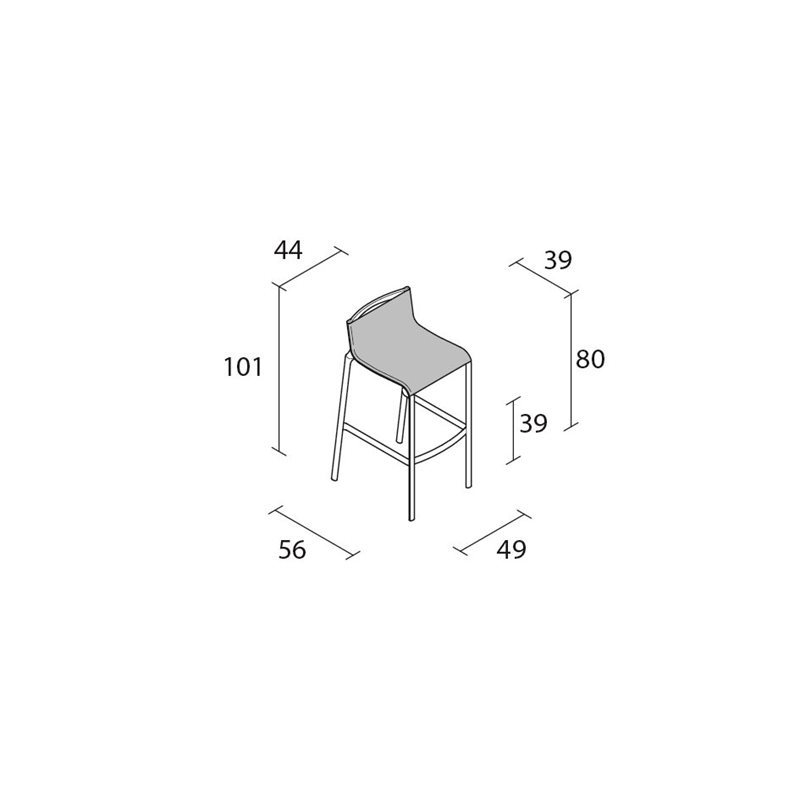 41B_Frame high stool_d