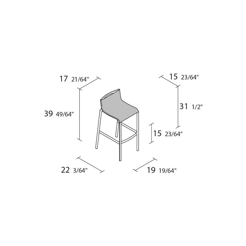 41B_Frame high stool_d_p